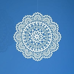 Dekoracja papierowa rozeta 4 cm - 10 szt. - 4cm