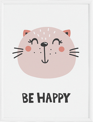 Plakat Be Happy 21 x 30 cm