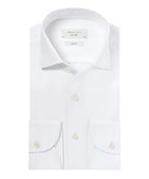 Elegancka biała koszula męska profuomo slim fit z kołnierzem z jednego kawałka tkaniny 43