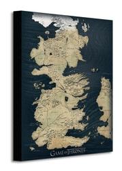 Game of thrones map - obraz na płótnie