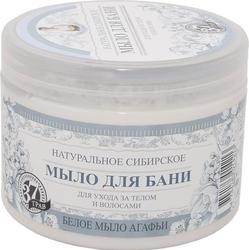 Babuszka agafia białe mydło agafii 37 ziół. naturalne syberyjskie mydło bania do pielęgnacji ciała i włosów, 500ml