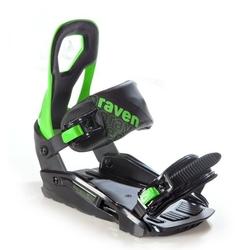 Wiązania snowboardowe raven s200 black  green 2020