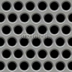 Obraz na płótnie canvas trzyczęściowy tryptyk metalowa powierzchnia z otworami.