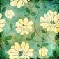Obraz na płótnie canvas trzyczęściowy tryptyk vintage kwiatowy tkaniny