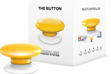 Fibaro the button  przycisk żółty  - możliwość montażu - zadzwoń: 34 333 57 04 - 37 sklepów w całej polsce