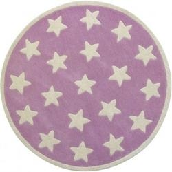 Dywan okrągły kids concept - gwiazdki różowe