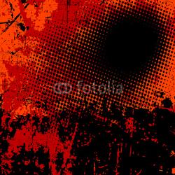 Obraz na płótnie canvas czteroczęściowy tetraptyk Tło wektor grunge w kolorze czarnym i pomarańczowym