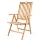 Krzesło drewniane teak - składane krzesełko - 5 stopniowa regulacja