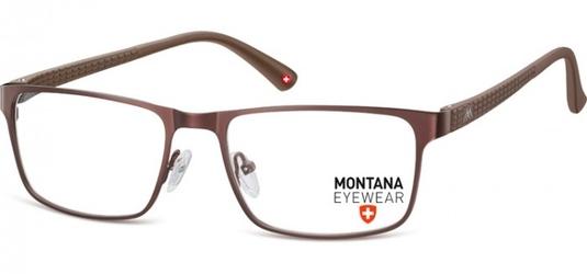 Oprawki prostokątne optyczne montana mm610b brązowe