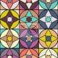 Naklejka wzór retro kształty geometryczne. kolorowe mozaiki.