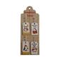 Zawieszki  plakietki na prezenty drewniane na desce altom design z pingwinami 8 sztuk