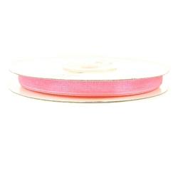 Wstążka szyfonowa 6mm32m - różowy - róż