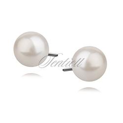 Srebrne kolczyki pr.925 perła 6mm sztyft
