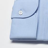 Elegancka koszula męska taliowana slim fit w błękitną krateczkę 41