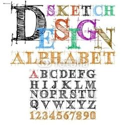 Tapeta ścienna szkic desing alfabet