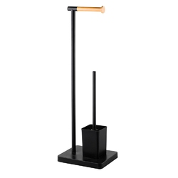 Stojak na papier toaletowy altom design ze szczotką czarny