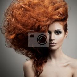 Fototapeta portret beauty. fryzura