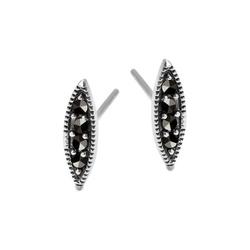 Staviori kolczyki. markazyty. srebro 0,925. wysokość 11 mm.