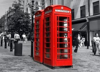 Budka telefoniczna w londynie - fototapeta