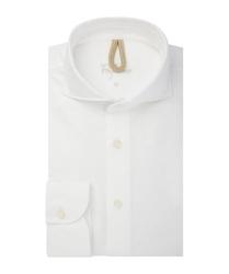 Męska biała koszula bawełna barwiona s
