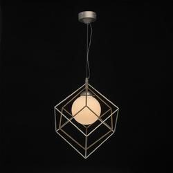 Geometryczna klatka, pojedyncza lampa wisząca led demarkt techno 726010201