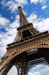 Wieża eiffel, paryż - fototapeta