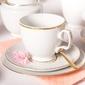 Zestaw kawowy na 6 osób porcelana mariapaula złota linia 18 elementów
