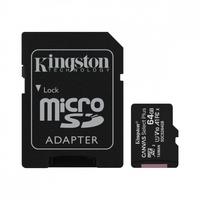 Kingston karta pamięci microsd  64gb canvas select plus 100mbs adapter