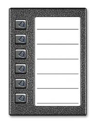 Aco cdn-6np gr podświetlany panel listy lokatorów z 6 przyciskami - szybka dostawa lub możliwość odbioru w 39 miastach