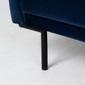Sofa rozkładana dla trzech osób amber granatowa welur nowoczesna