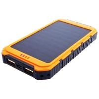 Power bank 6000mah 22,2wh z panelem solarnym 0,8w pomarańczowy