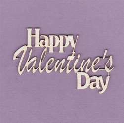 Napis Happy Valentines Day - HVD