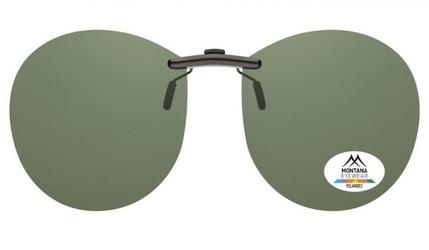 Nakładki zielone pilotki polaryzacyjne na okulary korekcyjne montana c4a