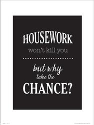 Typographic Housework - plakat premium