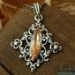 Junga - srebrny wisiorek z topazem złocistym