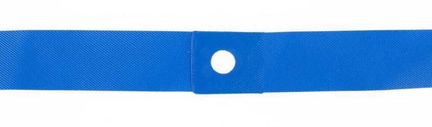 Opaska nylon na obręcz 27,5 20x584mm - fv niebieska, wysokociśnieniowa