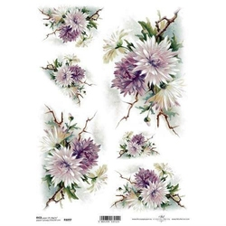 Papier ryżowy ITD A4 R1097 kwiaty