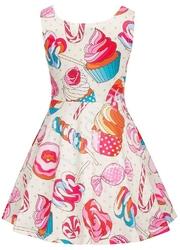 Bawełniana sukienka dla dziewczynki z lizakami