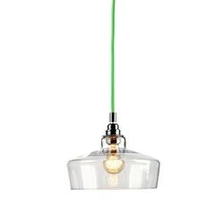 Kaspa - lampa wisząca longis iii - czarna - zielony