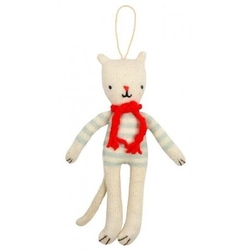 Meri meri - zawieszka choinkowa kot w sweterku