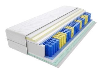 Materac kieszeniowy tuluza max plus 100x135 cm średnio twardy lateks visco memory