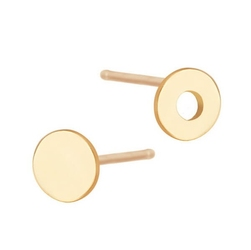 Staviori kolczyki kółka. żółte złoto 0,333. średnica 4 mm.
