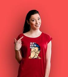 Ja je kto to pisał t-shirt damski czerwony xxl