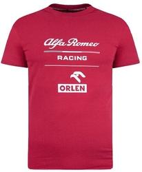 Koszulka alfa romeo orlen racing essential czerwona - czerwony