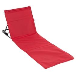 Mata plażowa, wyściełana, składana, regulowane oparcie, czerwona