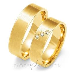 Obrączki ślubne złoty skorpion – wzór au-o119