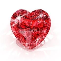 Plakat na papierze fotorealistycznym diament w kształcie serca