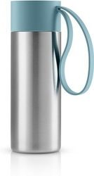 Kubek termiczny to go cup z uchwytem arktyczny błękit