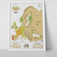 Mapa zdrapka europa