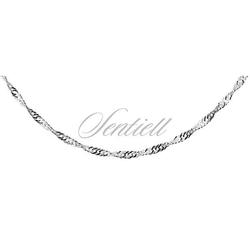 Łańcuszek srebrny singapur pr. 925 ø 030 - bez powłoki  1,8 mm